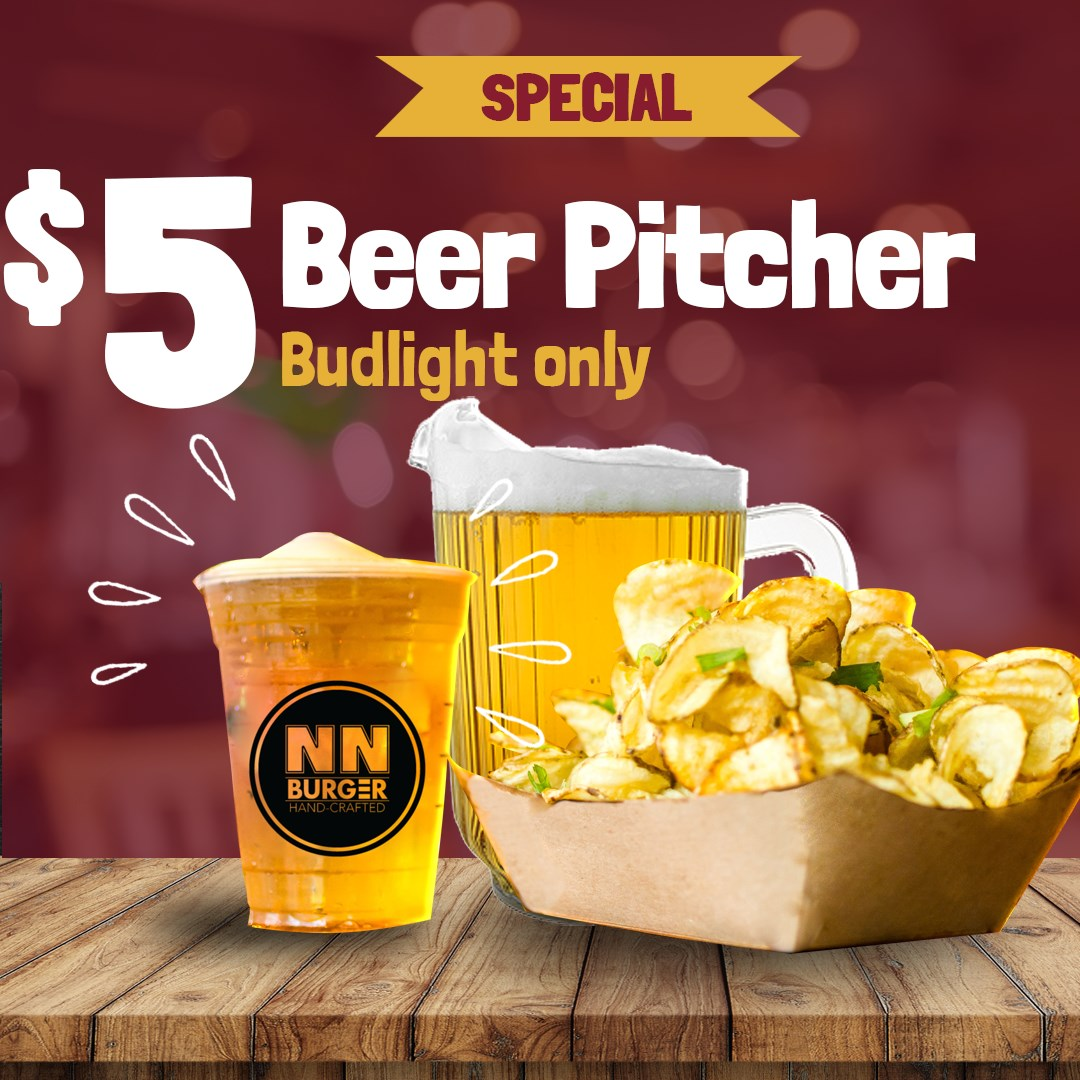 $5 Dollar Beer Pitchers at NN Burger